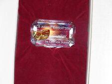 Swarovski Crystal SCS Annual 2000 Plaque Columbine Gabriele Stame Collectible