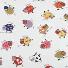 Multi Colour Cows with Kids Names PVC Vinyl Wipeclean Tablecloth