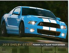 FORD 2013 SHELBY GT 500 LEAFLET.