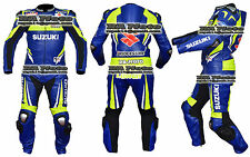 Suzuki motogp Motorbike Motorcycle Leather racing 1 & 2 piece Suit tailor made