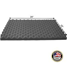"Acoustic Soundproofing Convoluted Egg Crate Panel Studio Foam 1.5"" X 18"" X 24"""