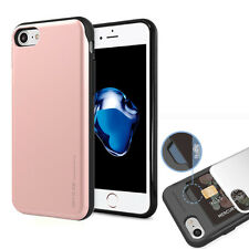 Slide Slim Anti-Scratch Protective Kit Grip Case w/Glass for iPhone 7 Galaxy LG