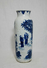 Chinese  Blue and White  Porcelain  Beaker  Vase     M649