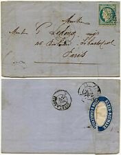 FRANCE 1871 CERES COVER+LETTER + ADVERT WAFER SEAL