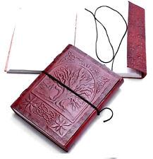 handmade leather journal vintage look embossed tree of life diary sketchbook 8x6