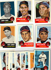 CLEVELAND INDIANS 1953 TOPPS ARCHIVES TEAM (20)  SET,BOB FELLER, ROSEN,DOBY,WYNN