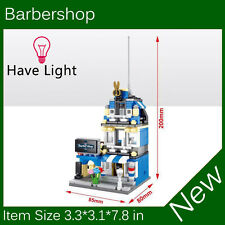 Mini Street View Building Block Barbershop Have Light SD6500