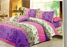 ValueX 3D Print Polly Cotton Double Bed sheet With Two Pillow Covers