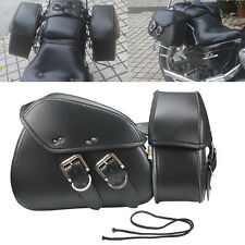 2 PCS Saddle Bags Side Bags Motorcycle For Harley Davidson Softai New 3 size