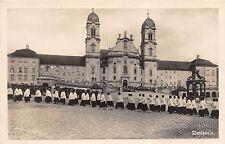 Einsiedeln Kirchen Einzug Foto Postkarte 1928
