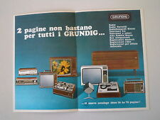 advertising Pubblicità 1969 GRUNDIG RADIO/REGISTRATORI/TELEVISORI