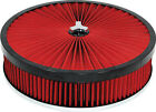 holley carby  extreme air filter rochester quadrajet carburettor 14x3 Red