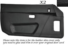 BLACK STITCHING 2X FULL DOOR CARD LEATHER COVER  FITS PORSCHE 924 944 75-89