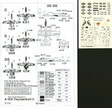 HI Decal 1/72 Fairchild A-10A # 72010