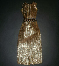 Vintage Sindy, Barbie Doll CLOTHES: Gold maxi dress