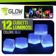 12 CUBETTI GHIACCIO LUMINOSO BLU cubetto ghiaccio finto colorato luminosi 15030