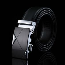 Premium Leather Men's Automatic Buckle Belts Fashion Waist Strap Belt Waistband