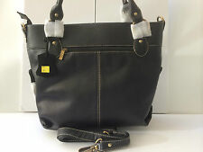 Womens Bag Handmade Nappa Genuine Leather Large Shoulder Bag - Black (AEB-84)