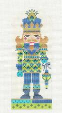 "Kelly Clark ""Peacock Prince Nutcracker"" handpainted Needlepoint Canvas"