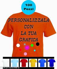 100 Magliette T-shirt Arancione Personalizzate con le vostre scritte loghi foto.