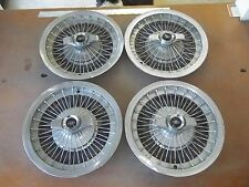 "65 66 67 Buick Riviera Hubcap Rim Wheel Cover Hub Cap 15"" WIRE SPINNER 1002 SET"
