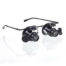 20x Magnifier Glasses Loupe Lens Loupe Jeweler Watch Repair LED Light Sanwood