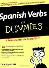 Spanish Verbs for Dummies by Cecie Kraynak (2006, Paperback)