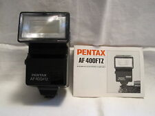 Pentax AF-400FTZ Automatic Electronic Flash w/instruction booklet
