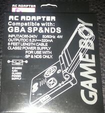 NEW Packaged AC Power Supply Cable adapter for the  Game Boy Advance SP Console