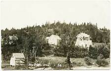 North Lubec Hillside View Lumber Yard RPPC Real Photo Postcard