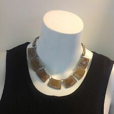 "Antique Vintage Mexico Hecho En ""jp""  925 Sterling  Silver Choker  Necklace"