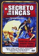 THE SECRET OF THE INCAS (1954 Charlton Heston) -  DVD - PAL Region 2 - New