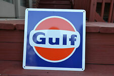 Gulf Gas Pump Station Shop Sign Garage Collectable Advertisng Free Shipping