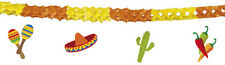 Mexican Mexico Hat Chilli Fiesta Party Hanging Paper Bunting Garland Decoration