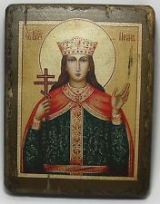 Handmade copy ancient ORTHODOX CHURCH ICON Great-martyr Irene of Thessalonik 45S