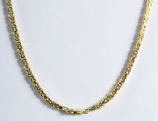 "2mm 18"" 10.60gm 14k Solid Yellow Gold Men's Women's Byzantine Chain Necklace"