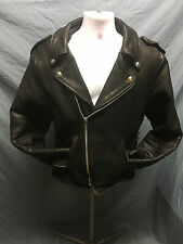 Heavy Quality Men's Biker Leather Jacket By Walter Dyer MADE IN USA 42L Meduim