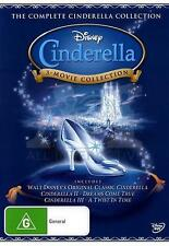 Cinderella TRILOGY  Collection Disney 3 Movie (DVD) Region 4 = GENUINE NO FAKE