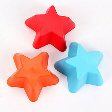 5pcs DIY Cake Mold Soap Little Star Silicone Mould Candy Chocolate Cake O