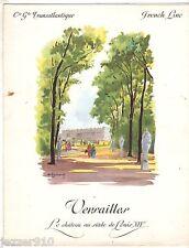 MENU PAQUEBOT ANTILLES du 08/09/1962 - FRENCH LINE COMPAGNIE TRANSATLANTIQUE