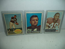 Cleveland Browns, 1964-65 Topps Football Cards, Lot Of 3 VG/VG+