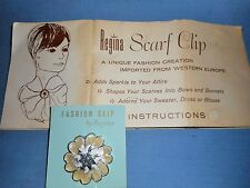 Vintage Fashion Dress Clip on Card with Instruction Sheet Copyright 1967-1 3/8""