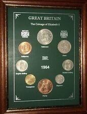 Encadré 1964 pour pièces de monnaie année set (rétro 53rd cadeau anniversaire de mariage cadeau)