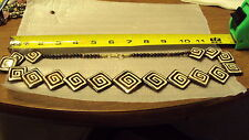 reversible mud cloth mudcloth COW BONE GRADUATED BEADS NECKLACE 27 INCHES cattle