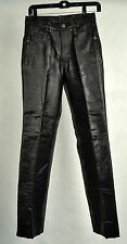First Genuine Leather Black Motorcycle Pants 28