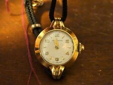 Vintage Movado 18k Gold Watch with a Black Rope Band - Serviced!