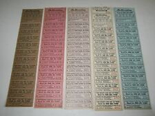 Lot of 60 Old 1950's SHORT LINE Inc. of PENN. -  Trip Commutation BUS TICKETS