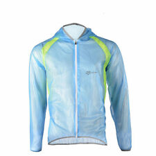 RockBros Men Cycling Outdoor Jacket Riding Bike Water Resistant Coat Blue Size L