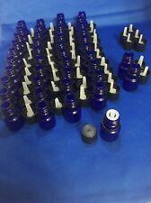 """42 empty glass Blue Essential oil Glass Bottles W. dropper bottle Tg Brand 2"""""""