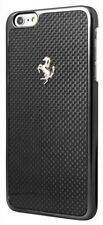Ferrari GT BLACK CARBON FIBER HARD CASE S/ EMBLEM  APPLE IPHONE 6/ 6S (4.7)